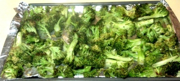 roasted broccoli cookie sheet