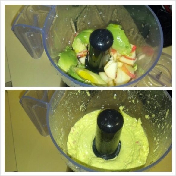 Avocado Yogurt in Processor