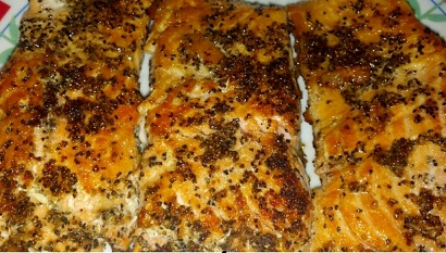 lemon pepper crusted salmon done