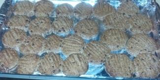 cookies baked on cookie sheet